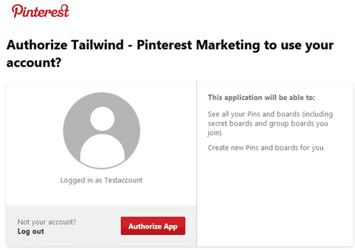 Allow Tailwind access to Pinterest account