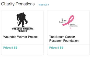 Give Swagbucks to charity