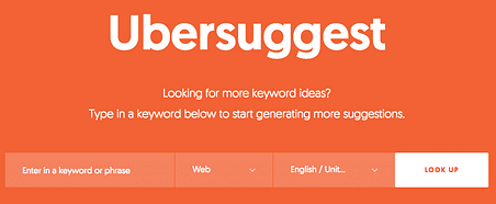 user ubersuggest to find keywords for your pages or posts