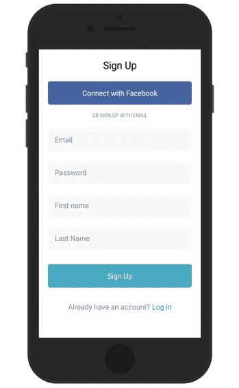 Grabr App Sign up Screen