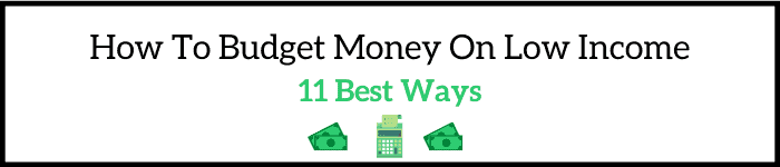 How To Budget Money On Low Income