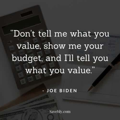 One of the best money mindset quotes on what you value. This quote will motivate you to spend wisely
