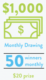 e-poll monthly drawings can make you extra cash!