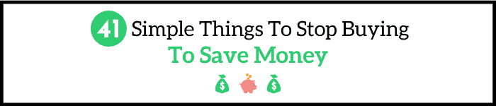41 things to stop buying to save money