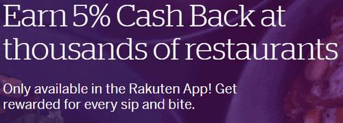 Earn Cash Back From Rakuten From Dining