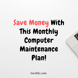 This computer maintenance plan will help you keep your computer running smoothly and save money in the long run! This computer setup plan will help you save money on technology! These save money ideas and save money tips on your computer will help you increase the lifespan of your device. Make sure you clean your computer desk to prevent dust buildup. You will save money by taking care of your computer! #money #computer #technology #cash