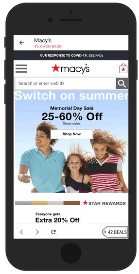 Example Of Shopping In Rakuten App