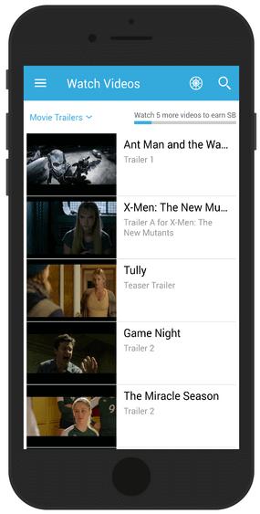 Swagbucks app to watch videos
