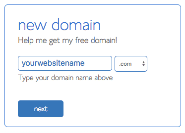 Pick a domain name for your website or blog