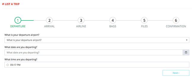 Airmule list your vacation trip