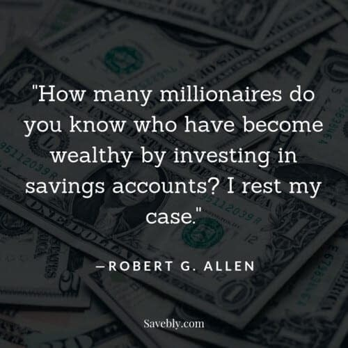 Great money mindset quote on investing your money and making your money work for you.