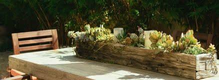 Make wooden plant boxes