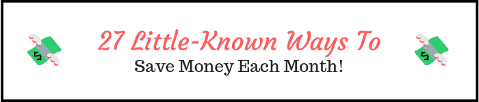 Check out these awesome ways to save money each month!