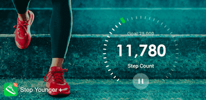Earn points for walking with the Step Younger app