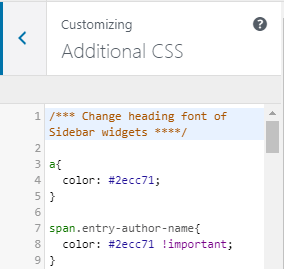 Add additional CSS code to your website or blog