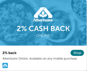 Cash Back on deliveries and pickup