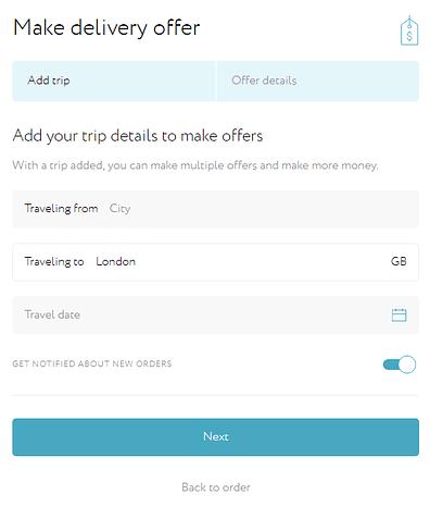 Grabr make offer for requested item