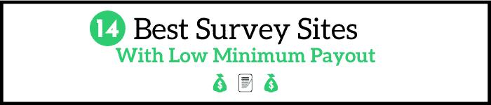 Survey Sites With Low Minimum Payout
