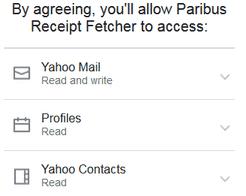 Paribus permissions to email