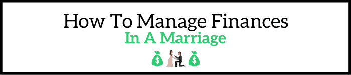 How to manage finances in a marriage