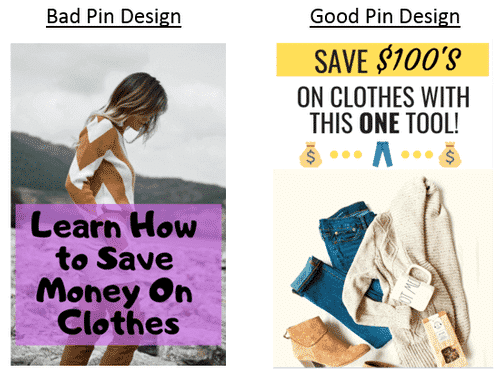 Example of good pin and bad pin design