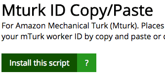 Amazon Mechanical Turk Copy and Paste script