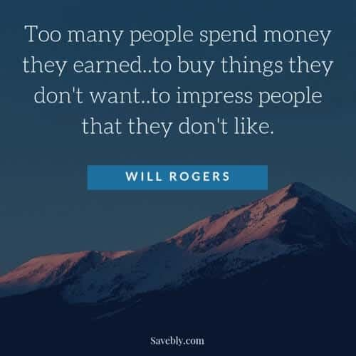 Amazing inspirational money mindset quote. This quote will motivate you to save money