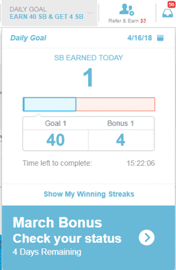 Swagbucks daily goal
