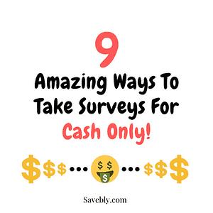 surveys for cash only