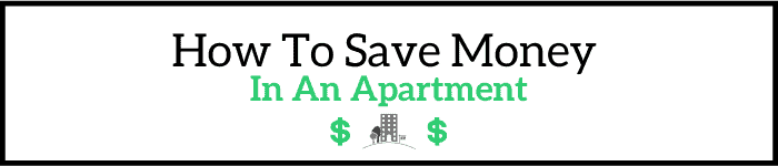 How to save money in an apartment