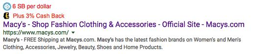 Google search with Swagbucks cashback