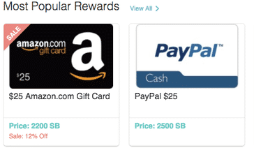 Swagbucks rewards